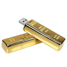 Gold Bar Model 64GB Usb 2.0 Flash Memory Stick Pen Drive Z28 U disk UD