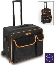 Beta Tools Trolley Tool Travel Bag Storage Case on Wheels - Technical Fabric C8