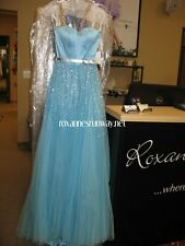 Sherri Hill 32135 Light Blue Stunning Pageant Prom Gown Dress sz 0