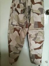 RARE Swedish army M90 arid desert camo pants ,military goretex  multiple size