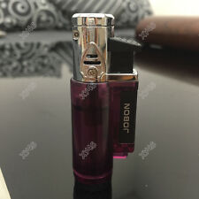 JOBON Windproof Refillable Jet  Torch Butane Cigar Cigarette Lighter Purple