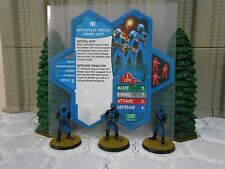 Heroscape Custom Metropolis Special Crimes Unit Card, Figures and Sleeve DC