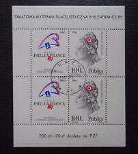Polen Block 108 , Briefmarkenausstellung Philexfrance , Gestempelt