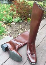 Vintage 1998 Bally Brown Leather Boots-Harrods Knightsbridge-Never Worn- 8.5