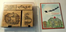 STAMPIN UP Lovely Woodland English Cottage set~use with holiday home Christmas