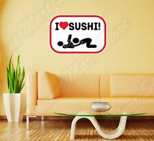 "I Love Sushi Adult Sex Funny Wall Sticker Room Interior Decor 25""X20"""