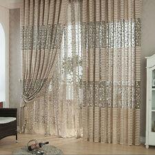 Leaf Tulle Window Curtain Door Drape Panel Sheer Scarf Valance Room Home Balcony