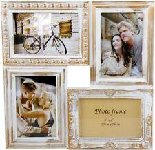 Fotorahmen für 4 10x15 fotos, Shabby in Weiß Gold, Landhaus Collage , Dekorahmen