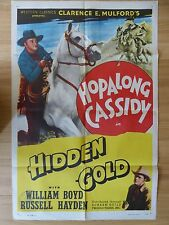 HIDDEN GOLD (1940) RR -original US 1 Sheet movie poster,western,Hopalong Cassidy