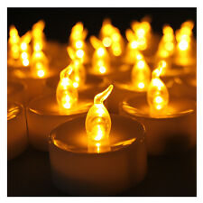 24 LED Amber Yellow Battery Tea Light Party Wedding Flameless Candle with Timer
