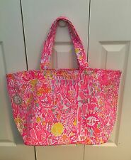 NWT Lilly Pulitzer Palm Beach Tote Bag Pink Pout