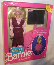 NRFB BARBIE ~RARE FOREIGN RELEASE INDIA TEACHER BARBIE PRESENTATION SET DOLL MIB