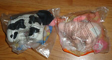 McDonald's Toys BABE the Pig & COW small plush NEW & Sealed 1995
