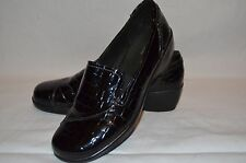 Clarks Bendables Black Croc Embossed Slip On Loafers Size 9 W Free Shipping!