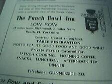 ephemera 1971 advert the punch bowl inn low row gunnerside