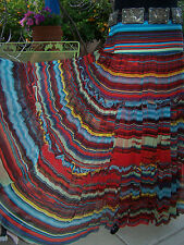 NWT~$178~Western Saltillo Serape Southwestern Tiered Skirt~L~Vintage Collection