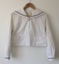 Authentic Japanese school girl uniform top, imported from Japan, used, S (Q1235)