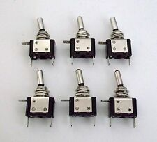 6 BBT Brand Lighted Red LED Heavy Duty On/Off 20 amp Toggle Switches