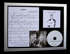JUSTIN BIEBER Sorry LTD GALLERY QUALITY CD FRAMED DISPLAY+EXPRESS GLOBAL SHIP