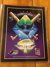 1998 Tampa Bay Devil Rays VS Detroit Game Program March 31, 1998 Inaugural Game