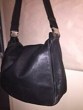 pre-loved authentic Prada messenger bag Butter soft leather