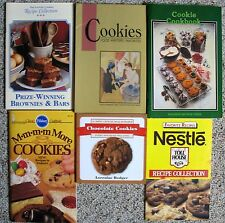 Lot of 6 Cookie and Brownie Recipe Cookbooks