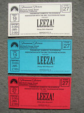 LEEZA! 1994 TALK SHOW TICKETS STARRING LEEZA GIBBONS HOLLYWOOD CA PARAMOUNT