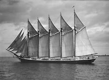 1903 The James Pierce, Beautiful Ship, Sailing, 14x10 Photo (antique wall deco)