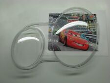 Mercedes w208 Replacement Clear Polycarbonate Glass Headlight Lens Pair 4mm