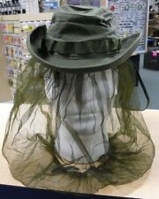 US MILITARY VIETNAM JUNGLE HAT WITH INSECT NET POPLIN RIPSTOP OG-107 SIZE 6 3/8