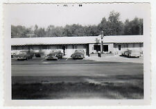 1959 VILLAGE MOTEL Photograph PHOTO Keeseville New York NY Clinton Essex County