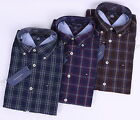 Tommy Hilfiger Men Long Sleeve Classic Fit Button Down Plaid Casual Shirt $0Ship