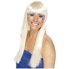 70s Disco Wig for Women Adult Blonde Dancing Queen Halloween Fancy Dress