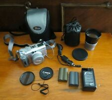 Canon PowerShot G3 4.0 MP Digital Camera W/ Extra Lens, Accesorries - Silver