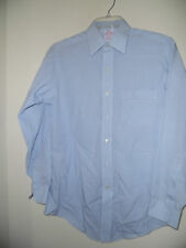MEN'S BROOKS BROTHERS BLUE PLAID NON IRON TRADITIONAL FIT SHIRT SZ 14 1/2