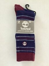 Timberland Men's Outdoor Leisure Crew Socks 2 Pairs 9-12 New