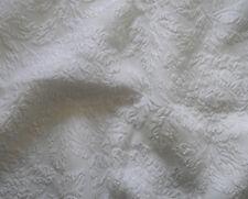 """Silk MATELASSE Fabric - White ROSES 45"""""""