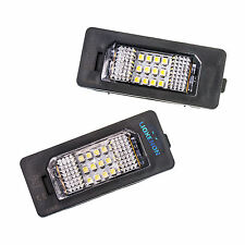 2x BMW 18 LED Licence Number Plate Lamps Bulbs 6000k Xenon White OEM Replacement