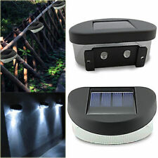 House Home Outdoor Garden Path Wall Fence Mount Solar Powered Power 2LED Light