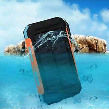 100000mAh Waterproof Solar Power Bank Portable External Battery Charger