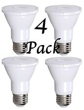 4 Pack Bioluz LED Dimmable PAR20 75 Watt (uses 7 Watts) 550 Lumen 3000K UL