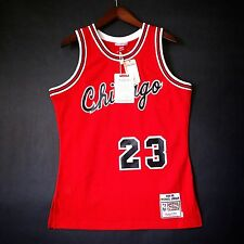 100% Authentic Michael Jordan Mitchell & Ness Bulls Rookie Red Jersey Size 40 M