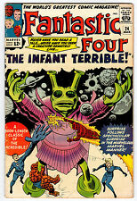 FANTASTIC FOUR #24 4.5 OFF-WHITE TO WHITEPAGES SILVER AGE