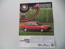 advertising Pubblicità 1982 ALFA ROMEO GIULIETTA