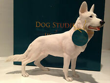 White German Shepherd/Alsatian Ornament Figure Figurine Model Gift