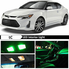 9x Green Interior LED Lights Package Kit for 2005-2016 Scion tC + TOOL