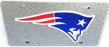 New England Patriots  LASER LICENSE PLATE Bling  SILVER Man Cave Your Man