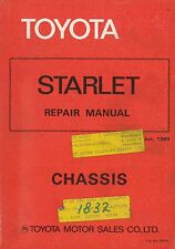 1980 TOYOTA STARLET FAHRGESTELL CHASSIS REPAIR MANUAL WERKSTATTHANDBUCH 36053