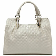 Thompson Luxury Bags Melissa Rhombus-Leder-Tasche hellbeige Handtasche UVP 198 €