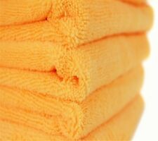 24 ORANGE MICROFIBER TOWELS NEW CLEANING CLOTHS BULK 16X16 MANUFACTURERS SALE